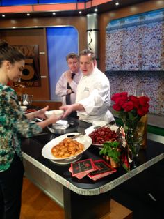 Prepping chef's table before #GoodDayNewYork goes live! #DerbyDishes