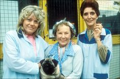 Wendy Richard as Pauline Fowler, Gretchen Franklin as Ethel Skinner and June Brown and Dot Cotton. Eastenders