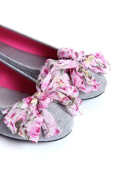 Maddie Grey Canvas Floral Corsage Ballet