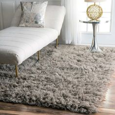 nuLOOM Hand-woven Flokati Wool Shag Rug x - 12334472 - Overstock - Great Deals on Nuloom - Rugs - Mobile Rugs In Living Room, Patterned Carpet, Rugs, Flokati Rug, Bedroom Carpet, Bedroom Rug, Grey Rugs, Home Collections, Home Decor