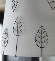 Metal leaves as lampshade accessories. Ikea