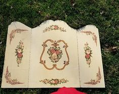 Vintage Frank's Nursery & Crafts, Rose  Three Panel FirePlace Screen