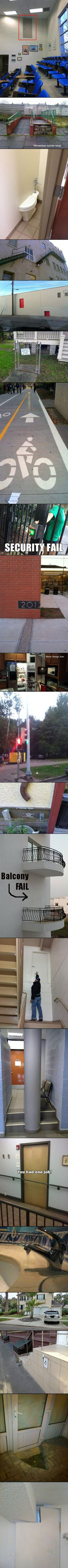 If you thought an improperly installed door handle was something to laugh at, check out these bizarre, yet real, construction fails.