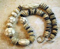 https://flic.kr/p/fMTp2n | The White Necklace | Polymer Clay Necklace inspired by Genevieve Williamson de.dawanda.com/product/50560062-Unikatkette-White-Handarbeit