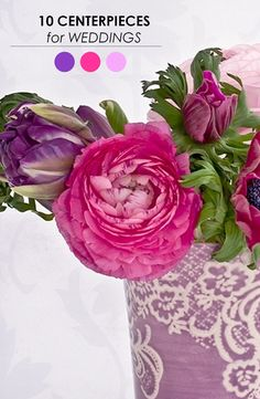 10 Creative Centerpieces for Weddings! http://www.theperfectpalette.com/2013/11/10-centerpieces-for-weddings.html