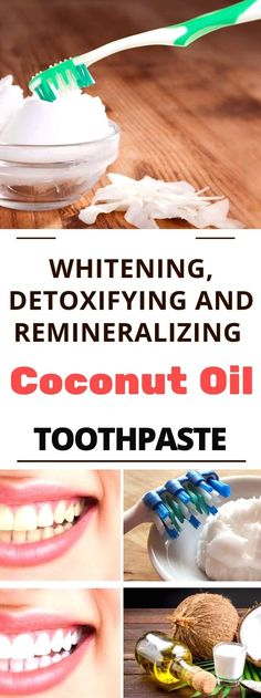 Natural Teeth Whitening Remedies Whitening, Detoxifying And Remineralizing Coconut Oil Toothpaste. Read this! Coconut Oil Toothpaste, Coconut Oil For Teeth, Coconut Oil Pulling, Coconut Oil Hair Mask, Natural Toothpaste, Benefits Of Coconut Oil, Homemade Toothpaste, Oil Benefits, Teeth Whitening Remedies