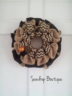 Halloween Wreath Fall Wreath Burlap Wreath with by SunDropBoutique