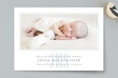 Classic Monogram Birth Announcements by Fig and Co...   Minted