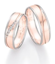 A dream in rose gold and white gold. Ein Traum in Roségold und Weißgold. A dream in rose gold and white gold. White Gold Wedding Rings, Wedding Rings Vintage, Wedding Ring Bands, Vintage Rings, Or Rose, Rose Gold, Promise Rings For Couples, Rings For Her, Love Ring
