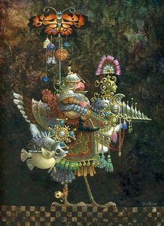 James Christensen Art Gallery | James Christensen - Butterfly Knight Original Oil Painting