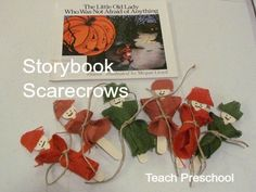 Touch and Feel Scarecrows (to go with book, The Little Old Lady Who Was Not Afraid of Anything by Linda D. Williams)