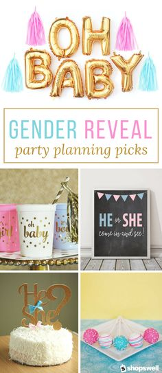 Everything you need to create the perfect gender reveal baby shower.