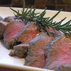 Venison Tenderloin Recipe – oven cooked (most recipes are for grilled - not so fun in the winter!) -- VERY tasty.  Would definitely make this one again!