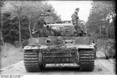 German Tiger I heavy tank at Villers-Bocage France June 1944. Photo: Bundesarchiv Bild 101I-738-0267-18 Arthur Grimm.