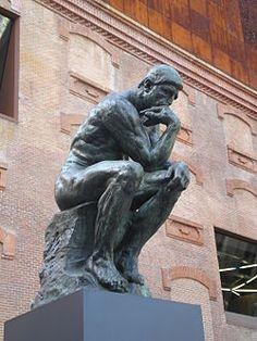 Obra:El pensador Autor: Augusto Rodín Estilo: Impresionismo Tipo: Escultura Data: 1880/1900
