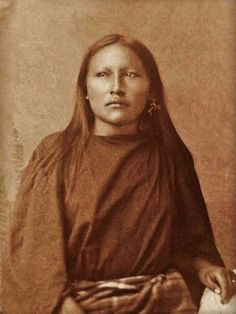 Plains Apache woman - circa 1890