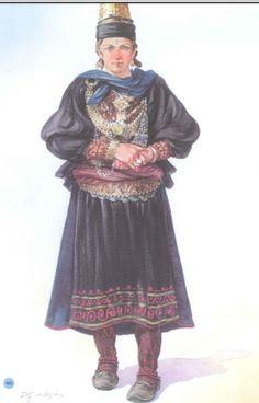 Albanian Shepherd woman Folk Costume, Costumes, Folk Clothing, Albania, Traditional Dresses, Folklore, Greece, Southern, Culture