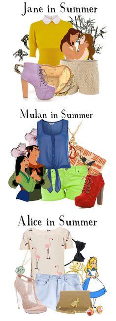 Looks de verão modernos inspirados em princesas da Disney
