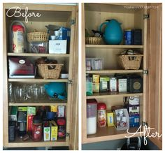 Organize and declutter the coffee or tea area of your kitchen.