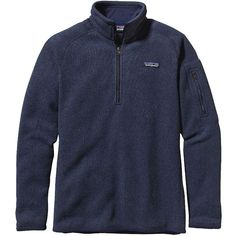 Patagonia Women's Better Sweater 1/4 Zip ($99) ❤ liked on Polyvore featuring tops, classic navy, zipper top, zip front top, zip top, patagonia and cross top