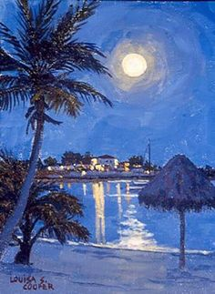 "PAPOH artist Louisa Cooper.  Painting is called ""Night Light""."