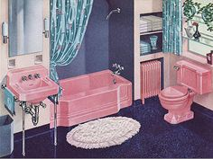 navy, pink and touches of aqua, the third layer of a secondary shade of the first pairing. A way to easily add drama.