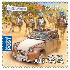 Stamp: Camel Racing at Alice Springs (Australia) (Road Trip Australia) Mi:AU… Alice Springs Australia, Rite Of Passage, Vintage Stamps, Aboriginal Art, Stamp Collecting, History, Coins, Posters Australia, Frames