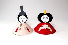 Paper toys d'un O-Dairi-Sama et d'une O-Hina-Sama - Réalisation en papier (Paper craft) - Les Fasces Nébulées