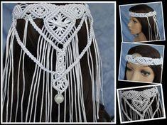 Macrame Headband, Boho Headband, Wedding Headband, Macrame Knots, The Wedding Date, Boho Wedding, Cathedral Wedding Veils, Bride Veil, Chapel Veil