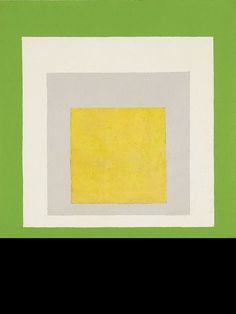 Josef Albers, Study to Homage to the Square: May, 1956. The economy of the composition and the brilliance of color make this Albers painting truly compelling. The history of his square works also prompts the viewer to contemplate how a few seemingly straightforward aesthetic precepts have had such wide reaching impact on the long and enduring arc of art history.