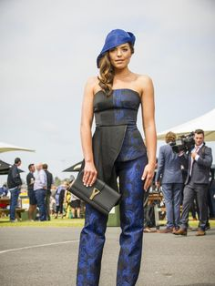 Fashion Stakes host Olympia Valance. Picture: Eugene Hyland