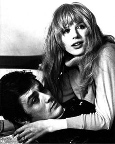 Marianne Faithfull with Alain Delon