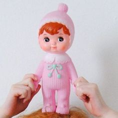 We just love this Cherry Blossom Woodland Doll! It's a mid-century collectable, with charming appeal for both young and old. www.cloth-ears.co.uk #woodlanddoll #pink #retro #vintage