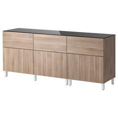 BESTÅ Opbergcombi met deuren/lades - lichtgrijs - IKEA