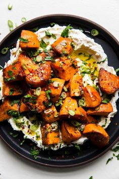 Honey Roasted Sweet Potatoes with Labneh