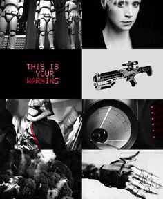 This is your warning. - Phasma - Star Wars aesthetic