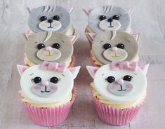@PrettyWittyCake this weekend I baked these cute little kitten cupcakes :-)