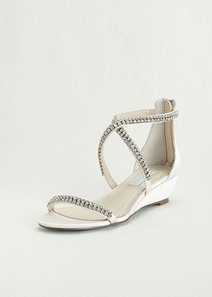 Blue by Betsey Johnson Crystal Embellished Wedges SBTIARA