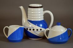 PP-Kanne og Fl. Deco, Teapots, Java, Cups, Porcelain, Blue And White, Pottery, Ceramics, My Favorite Things