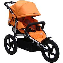 Tike Tech All-Terrain X3 Sport Single Stroller - Autumn Orange