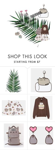 """#PVxPusheen"" by winolamegan on Polyvore featuring Nika, Pusheen, contestentry and PVxPusheen"
