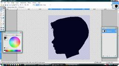 There is a website to get free photo editing software! She uses it step by step to make a silhouette. Must try this!