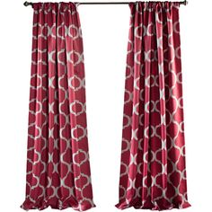 Bring a timeless touch to your master suite or living room with this lovely curtain, showcasing an ogee print for a pop of pattern.