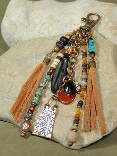 Purse+Charm++Zipper+Pull++Keychain+Tassel++by+StoneWearDesigns