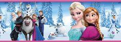 Bordüre-Fototapete 17m ELSA  ANNA EISKÖNIGIN Tapete Kinderzimmer Poster Frozen