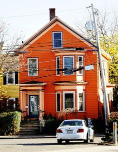 Orange House Exterior Paint Colors For Home Pink