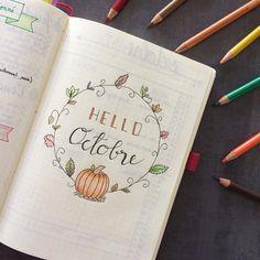 Et voilà déjà le mois d'octobre! Merci @that_journal pour le modèle #bulletjournal #bujo #octobre