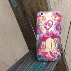 Clear Plastic Case Cover for iPhone 5 5S - Flaming Flamingo – milkyway