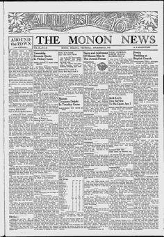 WHITE COUNTY, Indiana - Monon - 1945. 1951-52. 1954-57. 1959-62. 1970-74. 1976-77. 1986.. The Monon News - Google News Archive Search