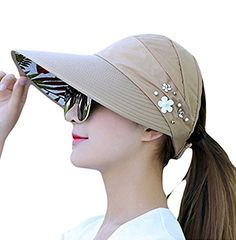 c088a858 Westeng Sun Cap Ladies Foldable Beach Hat Wide Brim Plain Visor Hat Summer  UV Sun Protection Travel Casual: Amazon.co.uk: Clothing